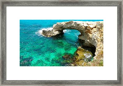 Ayia Napa In Cyprus Framed Print by Monique Wegmueller