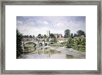 Aylesford Bridge Framed Print by Rosemary Colyer