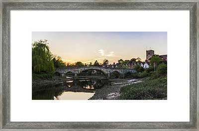 Aylesford Sunset Framed Print by Ian Hufton