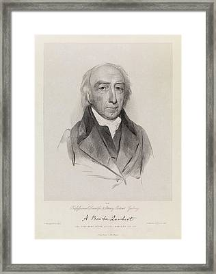 Aylmer Bourke Lambert Framed Print by Royal Institution Of Great Britain / Science Photo Library