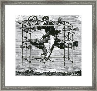 Ayres New Aerial Machine, 1885 Framed Print by Science Source