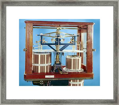 Ayrton-jones Ampere Balance Framed Print by Science Photo Library