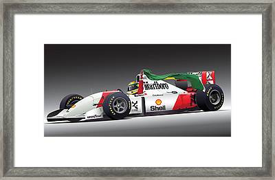Ayrton Senna Da Silva Art Framed Print by Alain Jamar