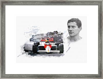 Ayrton Senna Genius Framed Print