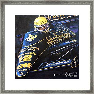 Ayrton Senna Lotus 98t1986 01 Framed Print by Yuriy Shevchuk