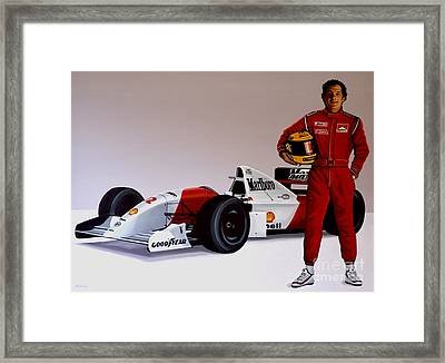 Ayrton Senna Framed Print by Paul Meijering