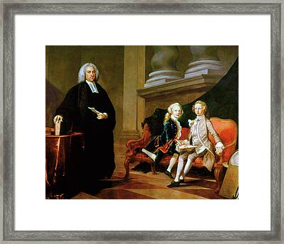 Ayscough And Pupils, C1749 Framed Print by Granger
