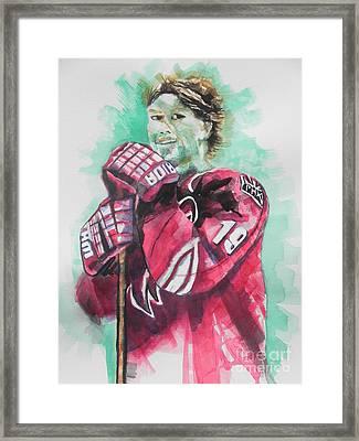 Az Coyotes ...hockey Player Shane Doan Framed Print by Chrisann Ellis