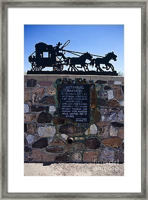 Az007 - Wickenburg Massacre Framed Print by Jason O Watson