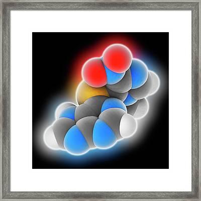Azathioprine Drug Molecule Framed Print