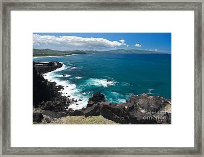 Azores Islands Ocean Framed Print by Gaspar Avila