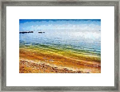 Azov Sea Painting Framed Print