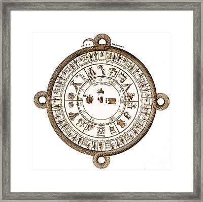 Aztec Calendar Framed Print by Getty Research Institute