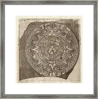 Aztec Calendar Stone Framed Print