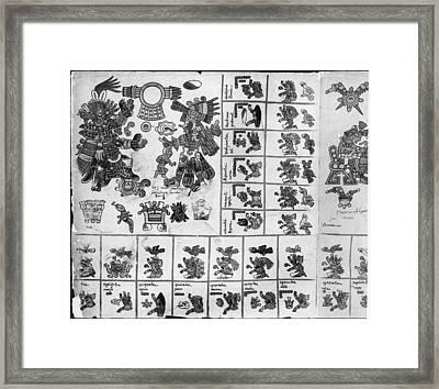 Aztec Codex Borbonicus Framed Print