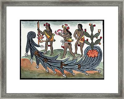Aztec Drought Rituals Framed Print by Library Of Congress