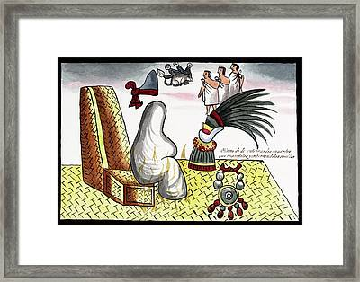 Aztec Emperor Funeral Framed Print by Library Of Congress