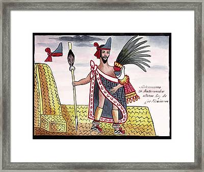 Aztec Emperor Moctezuma II Framed Print by Library Of Congress