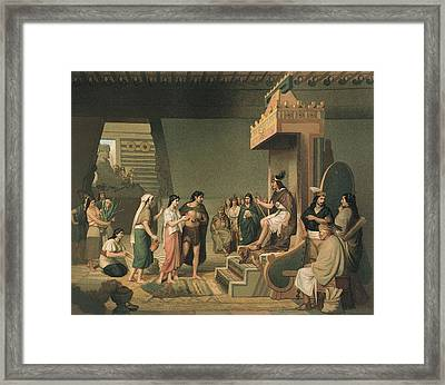 Aztec Empire. Pulque Alcoholic Beverage Framed Print by Everett