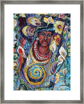 Aztec Garden Framed Print by Avonelle Kelsey