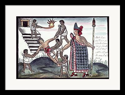 Human Sacrifice Artwork Framed Prints