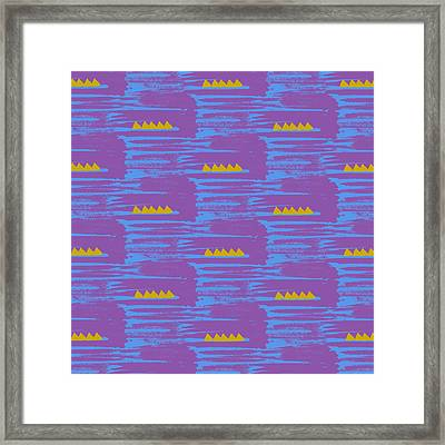 Aztec Framed Print by Laurence Lavallee