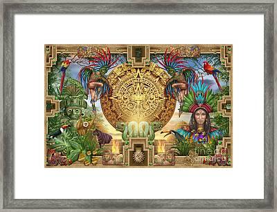 Aztec Mayhem Montage Framed Print by Ciro Marchetti