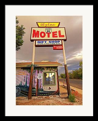 Mom And Pop Motels Digital Art Framed Prints