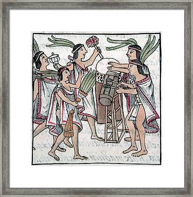 Aztec Music And Dance Framed Print by Granger