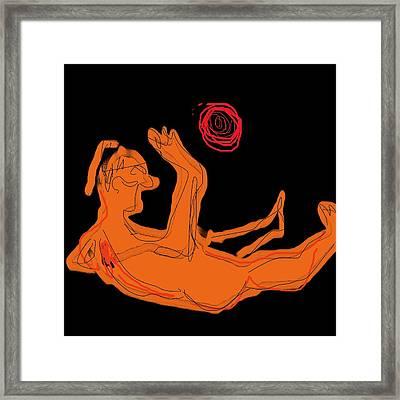 Aztec Son Framed Print by Jay Manne-Crusoe