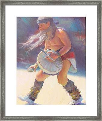 Aztec Sun Dancer Framed Print