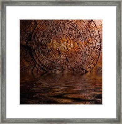 Aztec Sun Stone 2 Framed Print