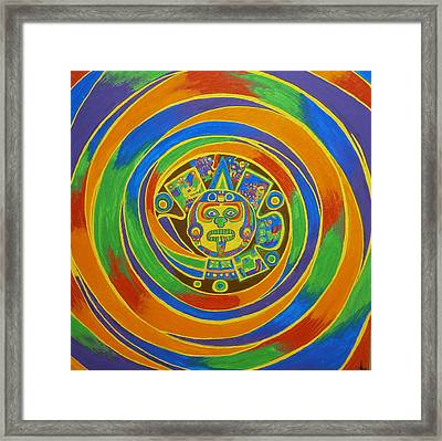Aztec Vortex Framed Print by Drew Shourd