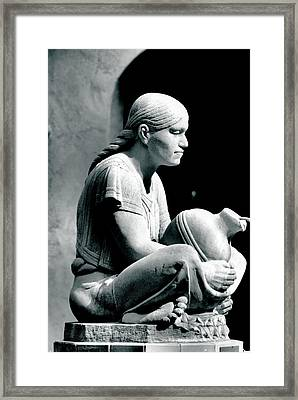 Framed Print featuring the photograph Aztec Woman by Bob Wall