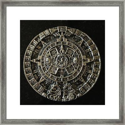 Aztec Framed Print by Julio Lopez