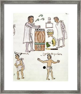 Aztecs Recreation, C1540 Framed Print by Granger