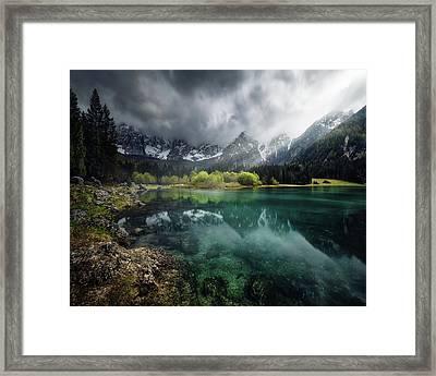 Azul Turquesa. Framed Print