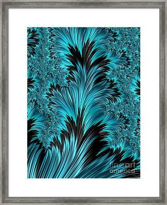 Azul Y Negro Framed Print by John Edwards
