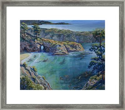 Azure Cove Framed Print by Heather Coen