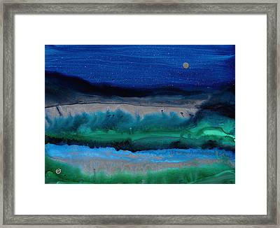 Azure Evening Framed Print