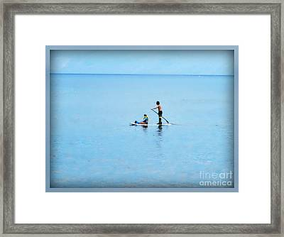 Framed Print featuring the photograph Azure by Leslie Hunziker