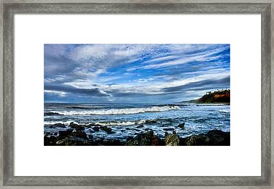 Framed Print featuring the photograph Azure Seas by Joseph Hollingsworth