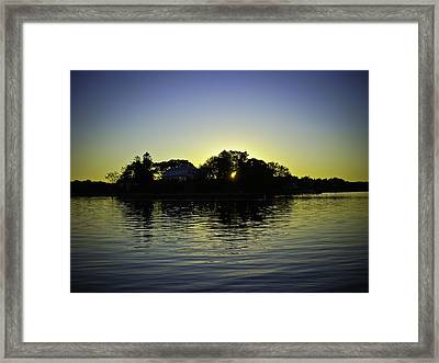 Azure Sunset At Onset Bay Framed Print by LA Beaulieu