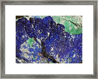Azurite Framed Print by Dirk Wiersma