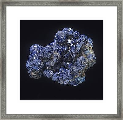 Azurite Framed Print by Science Photo Library