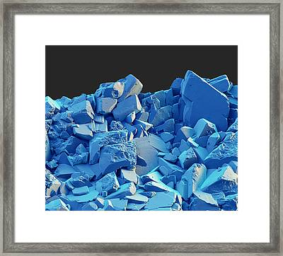 Azurite, Sem Framed Print by Eye of Science