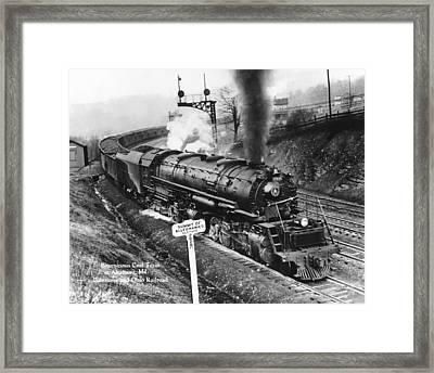B & O Railroad Coal Train Framed Print by Underwood Archives