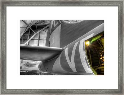 B-17 Bomber Tail Framed Print