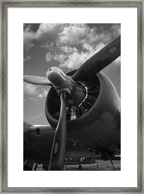 B-17 Engine Framed Print