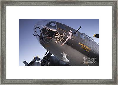 B-17 Flying Fortress Memphis Belle Dinny Janie Framed Print by Dustin K Ryan